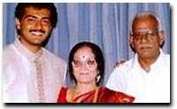 Ajith, with his parents and brother