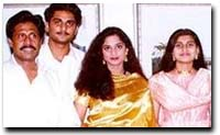 Shalini, with her parents, brother Richard and sister Shyamalee
